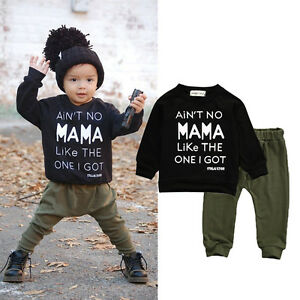 Toddler-Baby-Boy-Winter-Clothes-Letter-Printed-T-shirt-Pants-2pcs-Outfits-Set