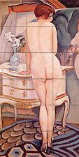 18 x 36 Ceramic Mural Nude Model Art Gerda Wegener Deco Bath Tile #46