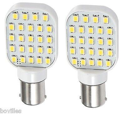 2 x RV LED 120 Degree Replacement bulb 1156 base 250 LUM 12-24v 11568305-02
