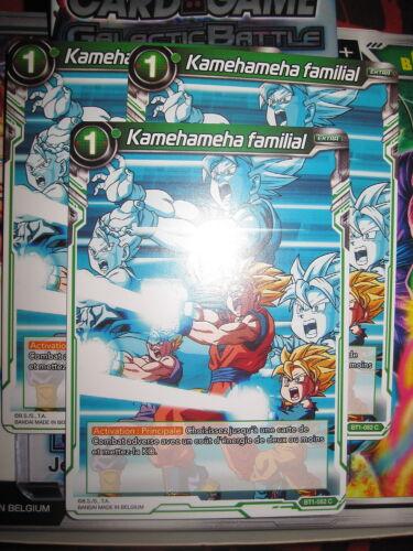 KAMEHAMEHA FAMILIAL BT1-082 C FR NEUF DRAGON BALL SUPER PLAYSET LOT DE 3