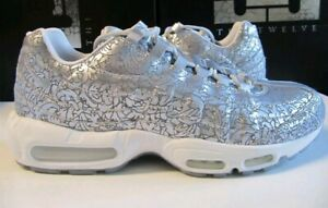 Details about New Nike Air Max 95 ANNIVERSARY QS Pure Platinum Metallic Silver Laser Etched