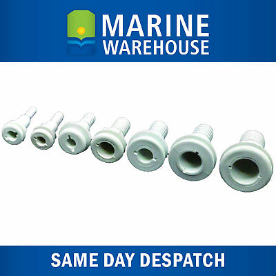 "Marine Grade  402053 HI-Nylon Skin Fitting Through Hull Suits 1//2/"" 13mm Hose"