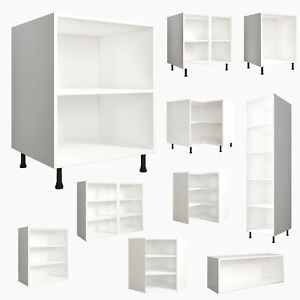 Kitchen-Base-Wall-Bridge-Units-Carcases-Drawing-Cupboards-Clicbox-White-Cabinets