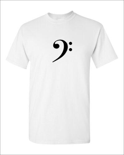 Bass Clef T-shirt Music Symbol Shirt Tee Musician Jazz Rock Band Guitar S-XXXL