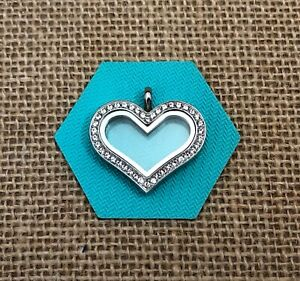 Origami Owl large silver hinged living locket with charms and ... | 281x300