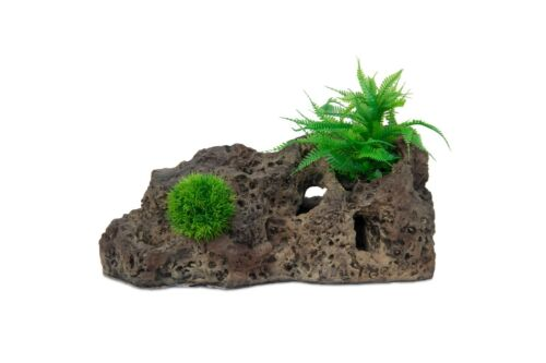 Peces tanque ornamento peces ocultar para Moss plantación plantas-XXL 42cm roca calcárea