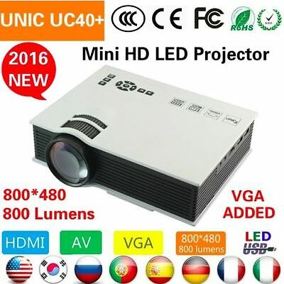 2016 Edition UC40+ mini full hd LED Projector Home Cinema Theater VGA 1080