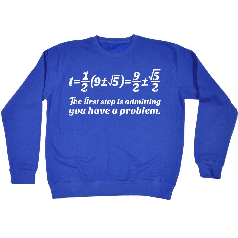 First Step Maths Problem SWEATSHIRT birthday fashion math geek nerd teacher gift