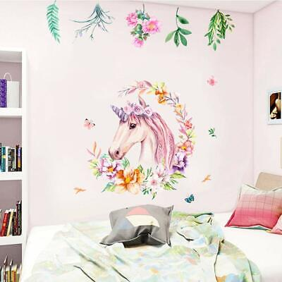 Unicorn Wall Decal Sticker, Non Toxic, Vinyl Girls Bedroom Wall Décor  Removable | eBay