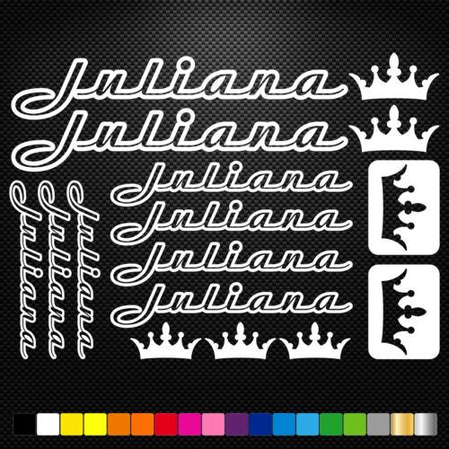 Juliana Bikes Vinyl Decal Stickers Sheet Frame Cycles Cycling Bicycle Mtb Road