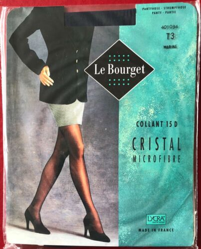 Le Bourget Cristal Tights Pantyhose Marine Size T3
