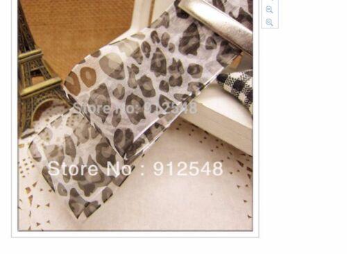 Leopard Organza Ribbon 38mm wide 1m long