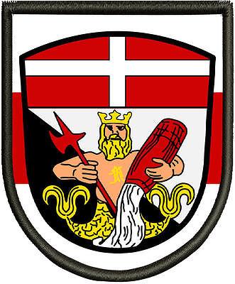 Pin Premium  Aufnäher Wappen von Lauingen   Patch Aufnäher
