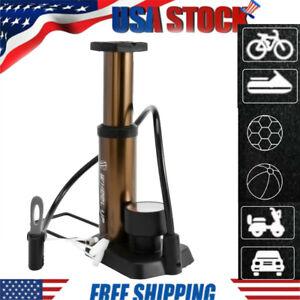 Mini Portable Bike Pump Bicycle Tire Air Pump Gauge /& Smart Valve Head 160 Psi