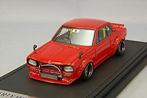 Ignition Model 1/43 LB-Works Hakosuka 2 Dr rouge IG0715 Resin Model