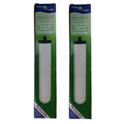 2x filterlogic fl-002 multiétape céramique filtre à eau pour Doulton Supercarb M15