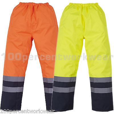 Angemessen Yoko Hvs463 High Visibility Vis Viz Waterproof Work Over Trousers Orange Yellow