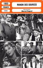 FICHE CINEMA : MANON DES SOURCES - Ardisson,Arius,Pagnol1952 Manon of the Spring
