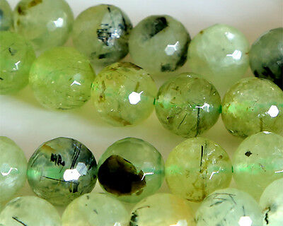 Discount for Wholesale Natural Faceted Green Prehnite Round Loose Beads 4-14mm