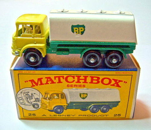 Matchbox RW 25 C BEDFORD pétrolier VERT BLANC  BP  dans  e1  Box