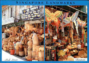 SINGAPORE-Singapur-Arab-Street-AK-1995-Postcard-Schiffspost-Stempel-MS-ARKONA