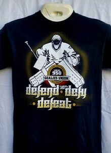 Goalies Union Local 950 Defend Defy Defeat Hockey Goalie T