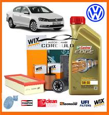 "*KIT TAGLIANDO VW PASSAT (362) 2.0 TDI 140 CV  DAL ""10 OLIO CASTROL + FILTRI"
