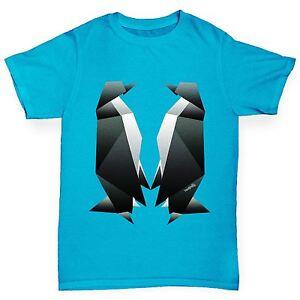Twisted-Envy-Boy-039-s-Origami-pingouins-Premium-T-shirt-en-coton
