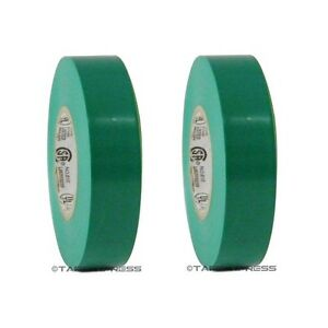 "2 Rolls Green Vinyl PVC Electrical Tape 3/4"" x 66' Flame Retardant Free Shipping"