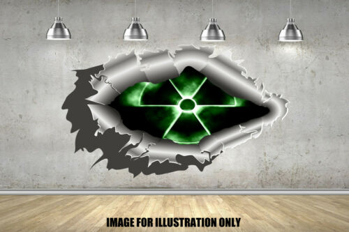 Radioactive 3D Metal Rip Childrens Wall Stickers Car Decals Transfers 4 Sizes