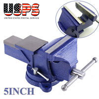 5-inch Bench Vise Heavy Duty Clamp 360 Swivel Locking Base Crafts Vice Tool