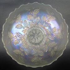 "CARNIVAL GLASS - FENTON HOLLY aka HOLLY & BERRIES White 8½"" Ice Cream Shape BOWL"