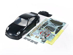Tamiya-47365-1-10-RC-Car-Porsche-911-GT3-Cup-VIP-2007-Black-Pre-Painted-Body-Set