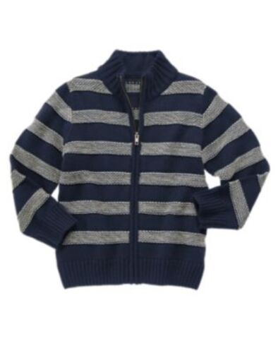 GYMBOREE S/'MORE STYLE NAVY STRIPE ZIP UP CARDIGAN SWEATER 4 5 6 7 8 10 12 NWT