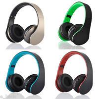 Bluetooth Wireless Headset Stereo Headphone Earphone Handfree Mic For iPhone LOT