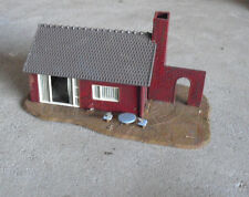 Vintage HO Scale Red Brick Rural House Building LOOK