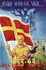 Norway Norge world war 2  propaganda poster NS
