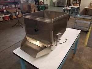 Details about Square Bin Hoppers Stainless Steel Pharmaceutical Grade w/  Vibrator