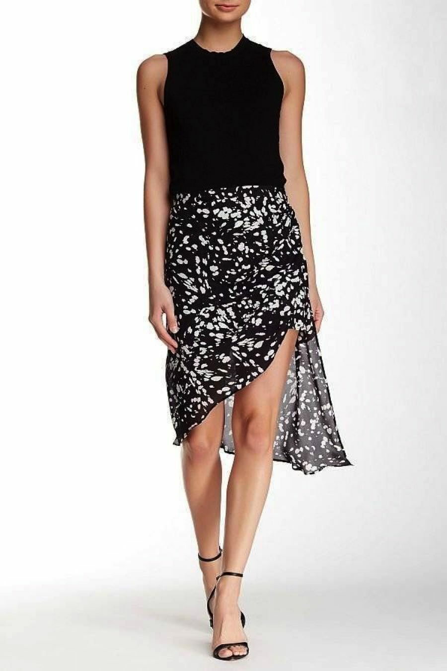 NWT Haute Hippie  Printed Silk Asymmetrical Skirt sz 2