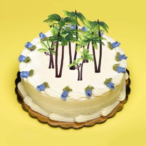 6x Palmier Gâteau Décorations Cupcake Topper DECOR noix de coco Arbres en plastique de sécurité