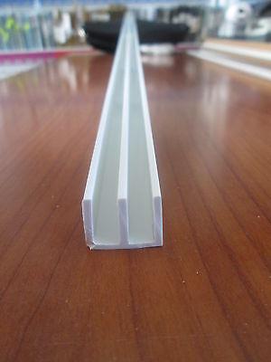 PROFILI IN PVC BIANCO A DOPPIA U MM 12X13 DA MT 2