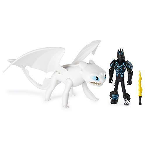 Armored Viking Figure DreamWorks Dragons Lightfury and Hiccup