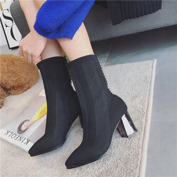 botas stivaletti bassi caviglia caviglia caviglia 7 cm negro moda eleganti simil pelle 9534  todos los bienes son especiales