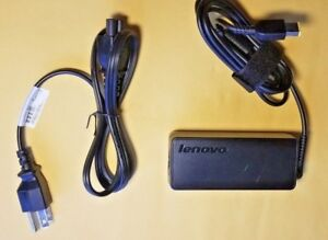 GENUINE-LENOVO-THINKPAD-AC-Adapter-Charger-65W-X1-T450-T460-T470-FLAT-TIP