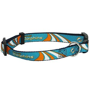 release date: 46da7 c64d7 Details about NEW MIAMI DOLPHINS DOG PET PREMIUM ADJUSTABLE NYLON COLLAR  ALL SIZES LICENSED