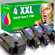 4x XXL-SET Toner für Epson Aculaser C1700 C1750 N C1750 W CX17 CX17 NF CX17 WF