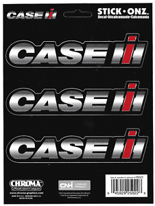 CASE International Harvester Decal Sticker Sheet of 3 Truck Tractor Farm Backhoe