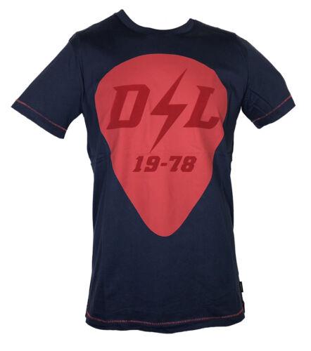 """Diesel señores t-shirt /""""T-diego-rb/"""" azul con motivo en rojo talla XXL Nuevo"""
