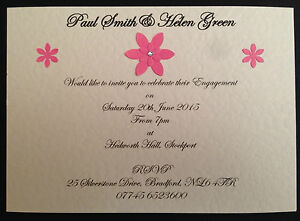 personalised handmade engagement party invites invitations magnet