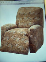 On Sale Jersey Recliner Cover---lazy Boy---leopard--9 Solids & 3 Prints